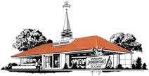Drawing of Nims-type Howard Johnson's restaurant