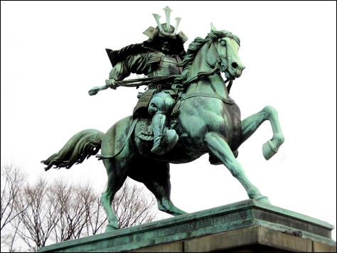 Photo Credit: David July — The Statue of Kusunoki Masashige, Tokyo Imperial Palace, Tokyo, Japan, 17 March 2008
