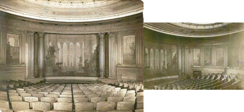 Circa 1918 Photographs of the Kresge Theatre Interior